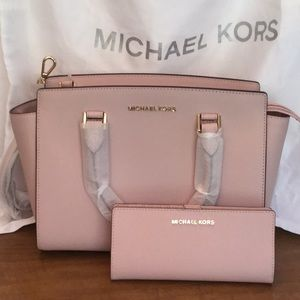 New Michael Kors Selma Satchel and Jet Set Wallet